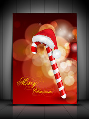 Greeting card, gift card or invitation card for Merry Christmas