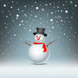 Merry Christmas Snowman Greeting card, vector