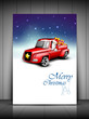 Merry Christmas greeting card, gift card or invitation card with