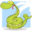 Happy Snake Cartoon Character