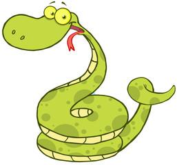 Happy Snake Cartoon Mascot Character