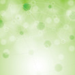 Molecule illustration green background