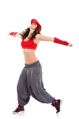 woman dancer with arms extended