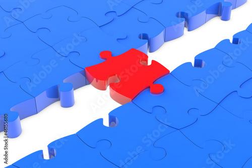Puzzleteil als Verbindung