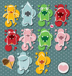Set of cute little monsters, vector