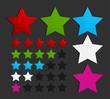 colorful five star set illustration