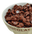 Bowl of chocolate cereals