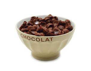 Bowl of chocolate flakes