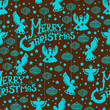 Merry Christmas  seamless pattern with Angels and toys