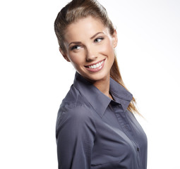 Portrait of young smiling businesswoman