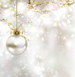 light Christmas background with light evening ball vector811
