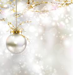 light Christmas background with light evening ball vector811