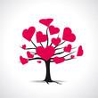 Arbre cœurs rouges