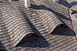 Traditional wooden tiled roof