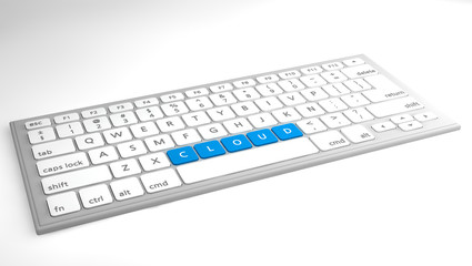 Cloud on keyboard concept