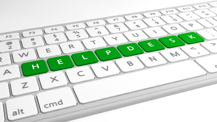 Helpdesk on keyboard