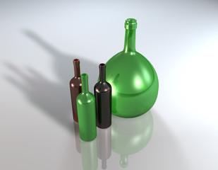 Weinflasche korbflasche