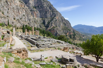 Ruins of Apollo temple, Delphi, Greece