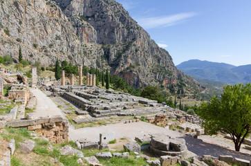 Ruins of Apollo temple, Delphi, Greece