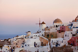 Pink sunrises in Santorini