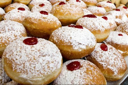 Keuken foto achterwand Boodschappen Chanukah Jewish Holiday Food - Sufganiot Donuts