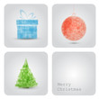 Vector christmas decoration card