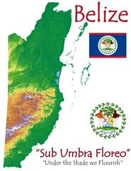 Belize national emblem map symbol motto