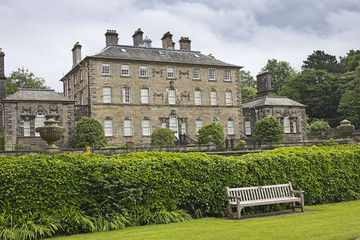 Pollok House and Light Bench