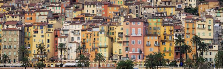 Provence colorful village houses, Menton