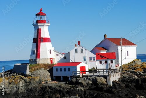 East Quoddy Lighthouse, New Brunswick, Campobello Island, Canada