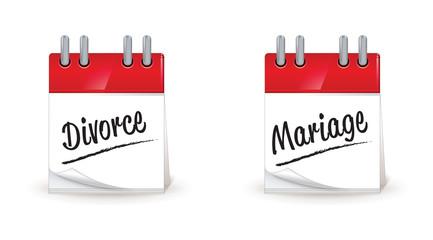 jour, date de mariage, de divorce