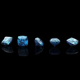 Square shape. Swiss blue topaz. Collections of jewelry gems poster