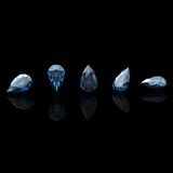 Pear. Swiss blue topaz. Collections of jewelry gems poster