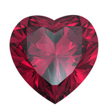 Heart shaped Diamond isolated. rhodolite