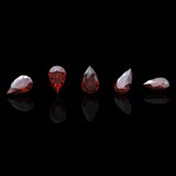 Jewelry gems shape of pear. Ruby poster