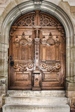 Fototapety old wooden church door