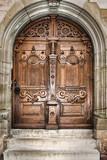 Fototapety old wooden church door