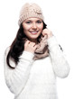 Pretty young woman with scarf and hat