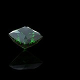 emerald. Collections of jewelry gems on black background poster