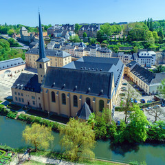 Abbey and St. Ioann Chirch, Luxembourg