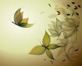 Autumn Leaves like Butterflies / Surreal sketch