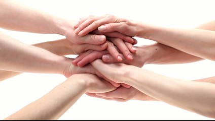 Many hands getting together