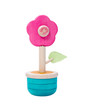 Colorful wooden flower toy vase isolates