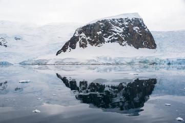 Snowcap hill in Antarctica