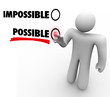 Choose Possible Vs Impossible Positive Attitude Touch Screen