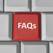 FAQs Red Computer Keyboard Key Frequently Asked Questions
