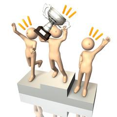 Winner on the podium
