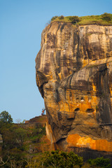 Sigiriya Lions Rock Side Stairs Sky