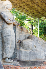 Covered Standing Reclining Buddha Polonnaruwa