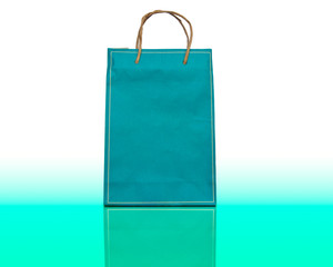 colourful paper bag with handles